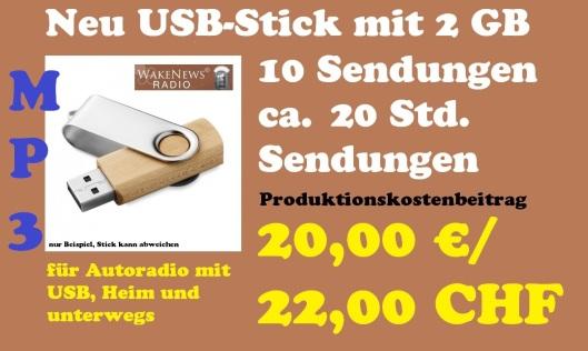 Neu USB-Stick 10 Sendungen, 200 Minuten